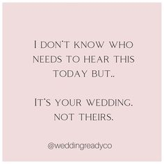 """Wedding Ready Co. on Instagram: """"Your Day. Your Way. 😘✨"""" Wedding Tips, Cards Against Humanity, Day, Instagram, Marriage Tips"""