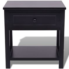 Black Bedside Small Cabinet Lamp Telephone Stand Hallway Bedroom Furniture Table for sale online Bedside Cabinet, Nightstand, Small Cabinet, Cabinet Storage, Storage Chest, Drawers For Sale, Mdf Plywood, Black Shelves, Home And Garden Store