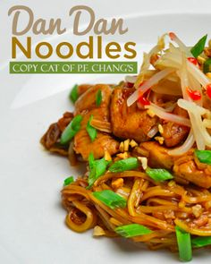 This is a delicious Dan Dan Noodle Recipe which is a copycat of PF Changs Dan Dan Noodles! Try this noodle recipe, we know you'll love it. #dandan #pfchangs #noodles