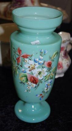 Victorian milk glass vase