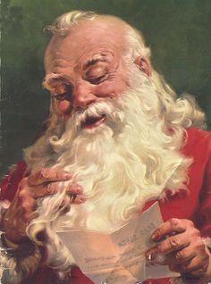 Santa, artist: George Hinke, 1949