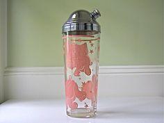 Vintage Pink Elephants Cocktail Shaker by winkinpossum
