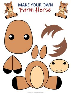 diy art Looking for an easy horse craft in your next farm theme Click now to make this cute DiY horse art project. With the FREE printable template, any toddler, preschooler and kid can do it! Choose to color your horse craft or make it. Choice is yours! Farm Animal Crafts, Farm Crafts, Animal Crafts For Kids, Toddler Crafts, Preschool Activities, Kids Crafts, Horse Crafts Kids, Craft Kids, Kids Diy