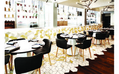 Byblos Brant St : Interiors by Commute Design Studio Restaurant Design, Toronto, Design Studio, Design Inspiration, Flooring, Dining, Interior Design, House Styles, House