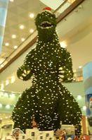 Giant Godzilla Christmas Tree Spruces Up Tokyo Mall