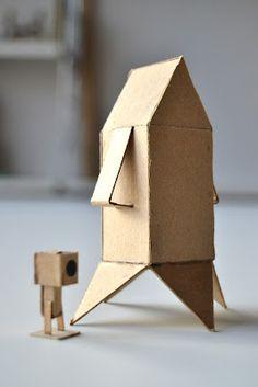 make a cardboard rocketship