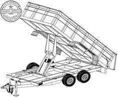 6'4″ x 12′ Hydraulic Dump Trailer Plans