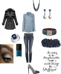 """""""feeling a lil blue"""" by kgleeson ❤ liked on Polyvore"""