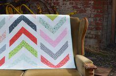 Lickety Split - A Modern Chevron Quilt Original Design by SheQuiltsAlot