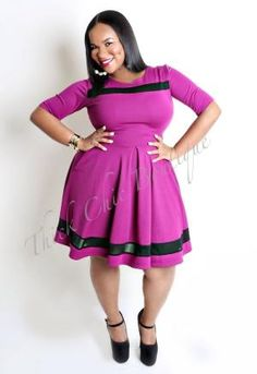 Pocketed Skater Dress, $46.00 by Thick Chic Boutique by shari