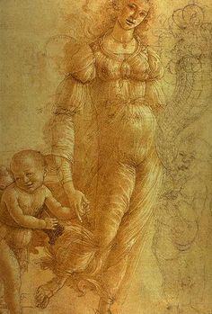 Sandro Botticelli , The Allegory of Abundance Sandro, Italian Renaissance Art, Renaissance Paintings, Fra Angelico, Italian Painters, Italian Artist, Michelangelo, Mermaid Sketch, Giorgio Vasari