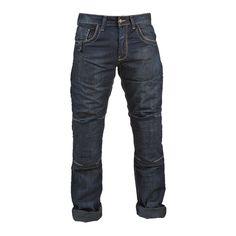 Pantalón Jeans Hombre GMS Rooney Pantalón vaquero de moto. Denim Algodón (100%) + Aramida. Forro de malla agradable. Refuerzo de Aramida en zonas sensibles, caderas, trasero, muslos, y rodillas. Corte clásico con 5 bolsillos. Protecciones adicionales en la cadera EN 1621-1. Bolsillos para protecciones en la rodilla.Tallas: 30, 32, 34, 36, 38, 40, 42  44, 46, 48.Largo 34 pulgadas.