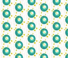 Blue Atom Planets fabric by cecilymae_handmade_ on Spoonflower - custom fabric