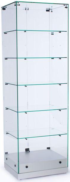 24  Glass Display Case w/Frameless Design Hinged Door Ships Assembled -  sc 1 st  Pinterest & 20