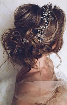 SALE Crystal and Pearl hair vine Extra Long Hair Vine Bridal Hair Vine Wedding Hair Vine Crystal Hair Piece Bridal Jewelry Hair Vine Pearl - Fryzury ślubne Wedding Hairstyles For Long Hair, Wedding Hair And Makeup, Messy Hairstyles, Pretty Hairstyles, Bridal Hairstyles, Hairstyle Ideas, Hair Ideas, Elegant Hairstyles, Messy Wedding Updo