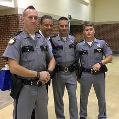 Thanks to Trooper Brian Smith, Sergeant Eric Barnett and Detective Tyler Clark for their help today. Cop Uniform, Police Uniforms, Men In Uniform, Military Police, State Police, Police Dogs, Police Sergeant, Police Officer, Hot Cops