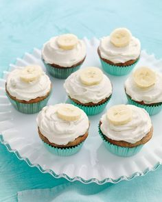 Banana Cupcakes with Honey-Cinnamon Frosting www.marthastewart...
