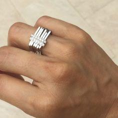 CONTEMPORARY ENGAGEMENT RING Bezel set diamond modern engagement