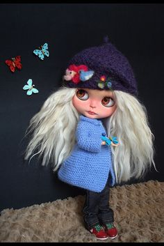 Zeina with new knitted coat | I really loved to make it | Flickr