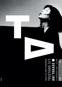 Dieter Feseke AT - Aki Takase, poster for Deutsches Theater Berlin, 2001.