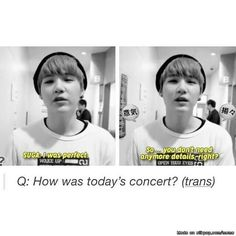 All we need to know is if Suga was good or not
