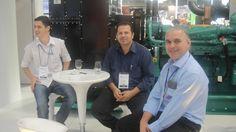 O Engenheiro Sr. Fagner Brasil, nosso Diretor Sr. Marcos Oliveira e o Projetista Sr. Luis Batistute prestigiam o stand da CUMMINS POWER no segundo dia da FIEE (28ª Feira Internacional da Indústria Elétrica, Energia e Automação)