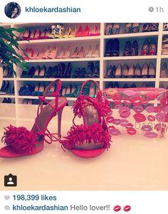 Kardashians shoe closet