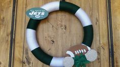 New York Jets or Michigan State Wreath at KraftKonnection.etsy.com.   Get yours…