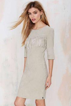 Maison Scotch Joni Suede Fringe Dress. Western!!!