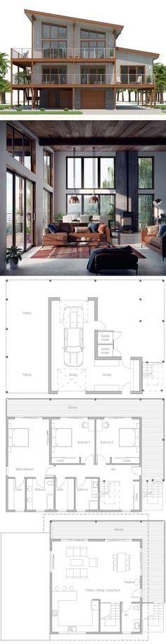 Coastal House Plan, Beach House Plan, Architecture