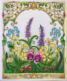 Guten Morgen. ☺️ #inkyivy #johannabasford #ivyandtheinkybutterfly #prismacolor #polychromos #coloring #coloringbook #coloringbookforadults #coloringforadults
