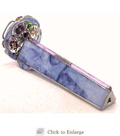 Serenity Keepsake Kaleidoscope in Stained Glass with Floral and Butterfly Wheels By Beverly Forester