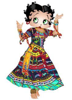 Betty Boop Rajasthani Gypsy