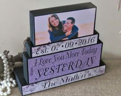 Groom to Bride Gift - I Love You More Sign - Personalized Unique Wedding Gifts…