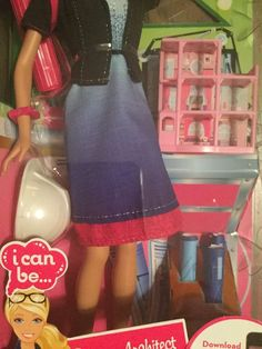 2011 Barbie: I Can Be An Architect, 2011 Career of the Year Doll, includes a miniature Dreamhouse / Dream Townhouse