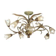 Found it at Wayfair - Emilia 9 Light Semi Flush Mount Dining Room Ceiling Lights, Flush Mount Lighting, Vanity Lighting, All Modern, Outdoor Lighting, Chandelier, Led, Pendant, Candelabra