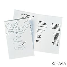 "50 ""Love"" Wedding Programs $6.99"