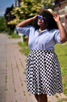 My Curves & Curls™ | A Canadian Plus Size Fashion blog: Dots.....................