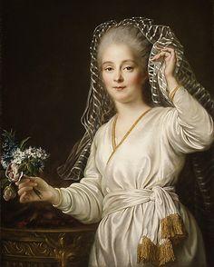 Portrait of a Young Woman as a Vestal Virgin (1767) - Francois Hubert Drouais