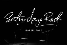 Saturday Rock Font. This font has so much character, charm and texture. A true hand drawn marker script, with 2 sets of uppercase and lowercase, plus double ligatures and swashes.