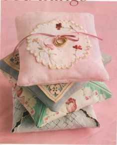 pillows made with hankies - Google Search