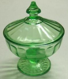 Ribbon Depression Glass