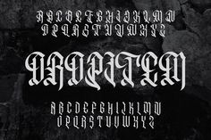 Arterfak Font Bundle I - Display - 2 Tattoo Fonts Alphabet, Tattoo Lettering Fonts, Lettering Styles, Hand Lettering, Tribal Rose, Chicano Lettering, Scary Tattoos, Letter Games, Leg Tattoo Men