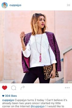 Cuppajyo celebrates her blog turning 2 in a Wilde Willow sequined blazer and Zacasha tassel necklace!