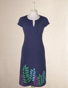 Cute blue dress for spring.