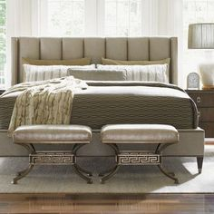 Lexington Tower Place Upholstered Panel Bed Size: California King