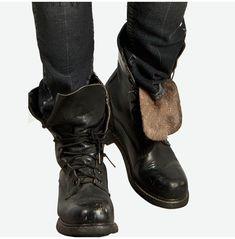 Men Military Lace Up Boots, Men Combat Leather Boots, Men Military forces Boots - Boots