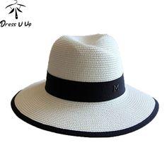 f37ef7b09ab 2015 Hot Sale Trendy Unisex Chapeaux Pour Les Femmes Cap For Women Summer  Beach Sun Hats Straw Panama Hat Men Fashion Jazz Hats
