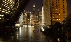 $39 City Lights Night Paddle or Chicago River Sunset Paddle