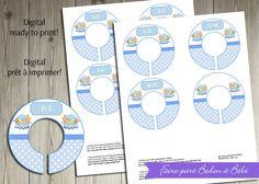 Digital imprimable - Diviseurs de placard Arche de Noé Bleu by Fairepartbedonabebe on Etsy